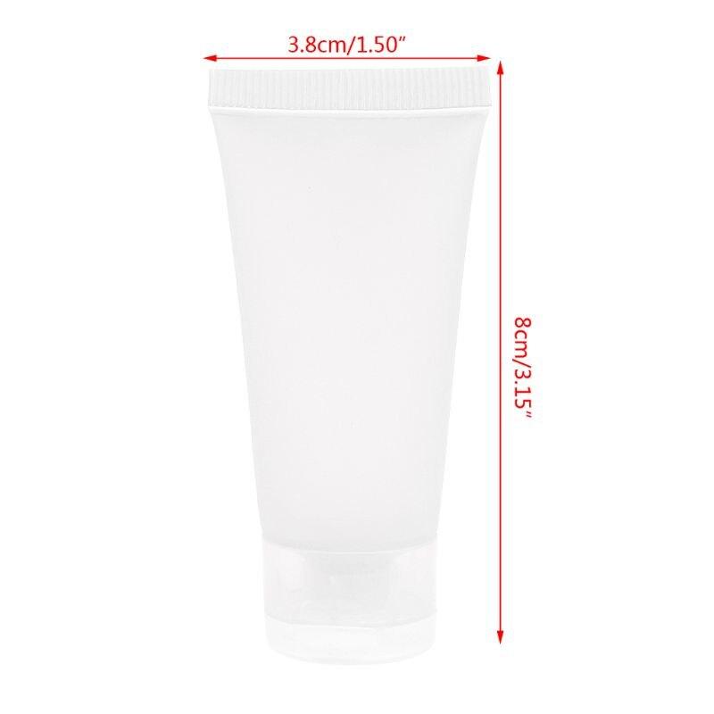 Купить с кэшбэком 1Pc Empty Plastic Portable Tubes Squeeze Cosmetic Cream Lotion Travel Bottle