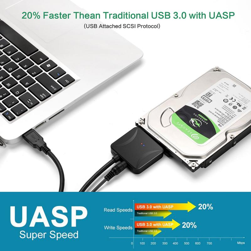2.5 Inch Usb3.0 Easy Drive Line Sata Turn Usb3 0 Hard Drive Transfer Cable 2.5/3.5 Inch Hard Drive Data Cable Sata To Usb