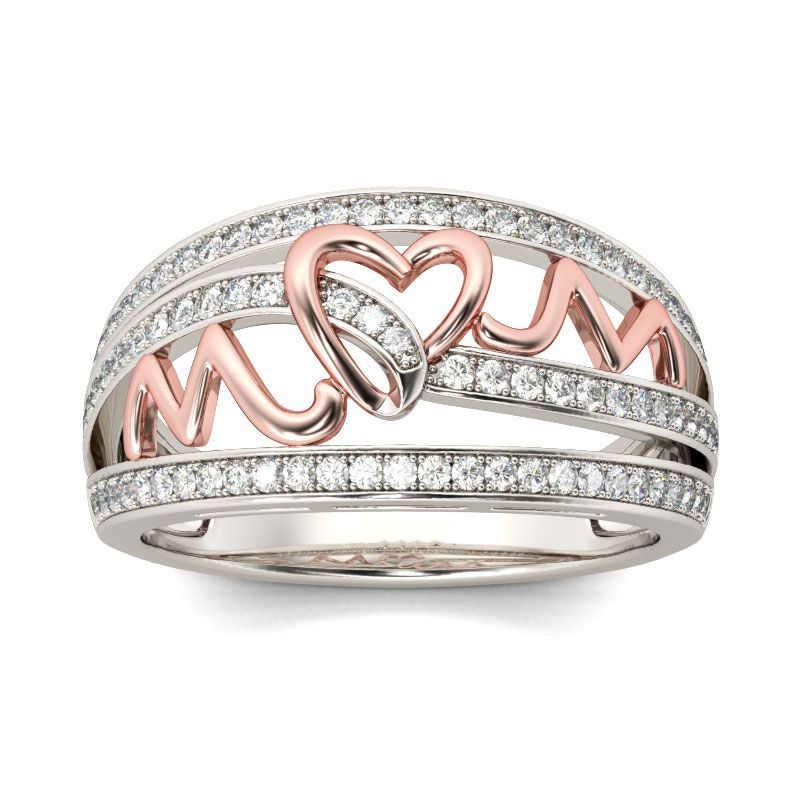 Новинка 2019 года. Женские кольца в форме сердца из розового золота. Блестящее