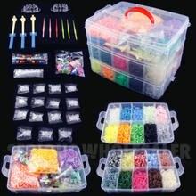 DIY Hand Made Rubber Bands Twist Loom Set Rubber Loom Bands Kits Friendship Bracelet Maker Making Kit for Kids In Stock
