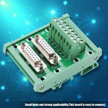 DB15-M6 DIN Rail Mount Interface Module Terminal Block Double Female Head Terminal Block Board Connector