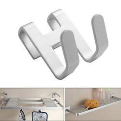 Espaço de alumínio chuveiro porta de vidro gancho buraco livre toalha rack organizador chave
