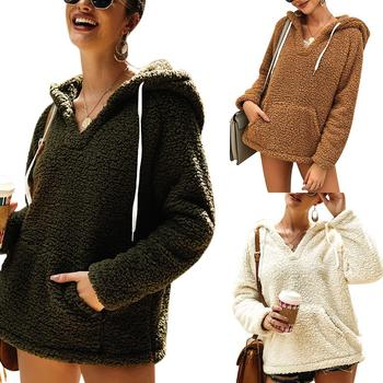 Plush ladies autumn and winter jackets Spring