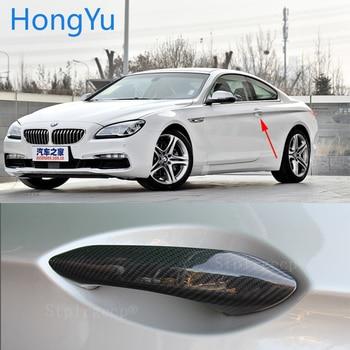 Carbon Fiber Auto Door Handle Knob Exterior Trim Covers for BMW 6 series F06 F12 F13 G32 640i 650i 640d 2011-2017 Sticker