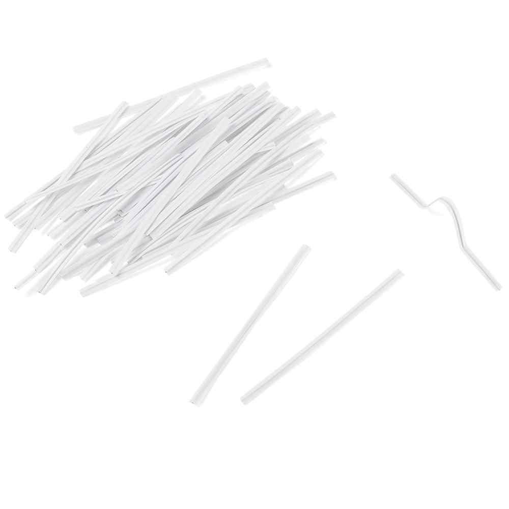 1000pcs Flessibile PE di Plastica Naso di Torsione del Filo Bar Cravatte Ponte per Maschera FAI DA TE Che Fanno Con Zincato Ferro Single Core interno Bianco 10
