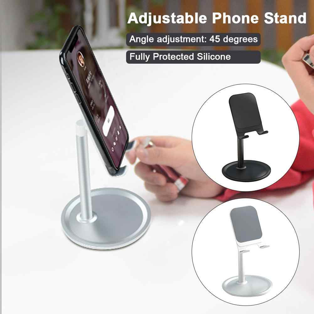 מתכוונן טלפון סלולרי Stand רב זווית אלומיניום סוגר לוח מודרני טלפון מחזיק אביזרי Tablet Stand מוגן סיליקון
