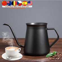 Drip Kettle 400ml Coffee Tea Pot Non-Stick Food Grade Stainless Steel Gooseneck Drip Kettle Swan Neck Thin Mouth