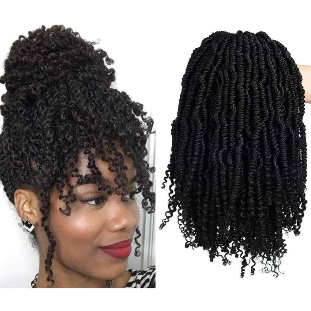Ombre Bom Twist Pluizige Krullend Twist Vlechten Haar Bulk Passie Twist Haak Haarverlenging Synthetische Bundels Bohemian Haar