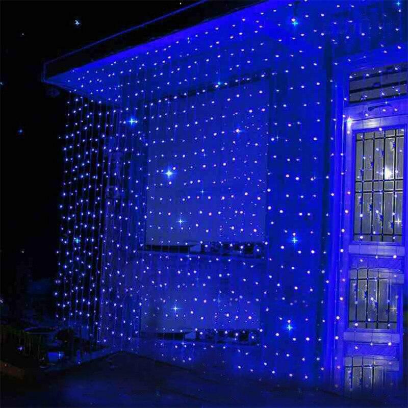СВЕТОДИОДНАЯ Гирлянда занавес в виде сосулек 3x1/3x2/3x3/6x3 м, Рождественская сказочная гирлянда, уличное украшение для дома, свадьбы, вечеринки, сада Светодиодная лента    АлиЭкспресс