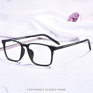 Image 3 - Okulary optyczne rama dla mężczyzn i kobiet 8878 Titanium elastyczne nogi z TR 90 plastikowe oprawki okularowe z przodu obręczy