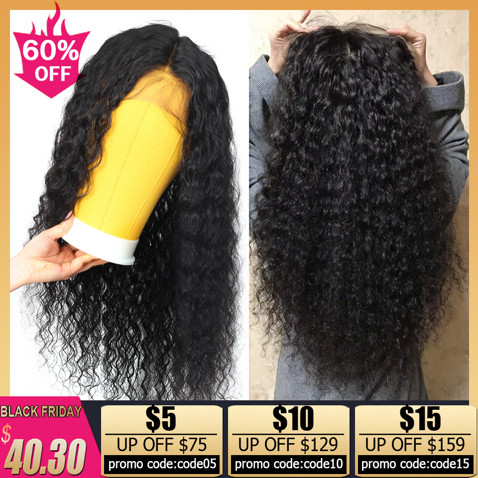 Transparent Lace Wigs 13x4 Deep Wave Lace Front Wig Brown Glueless Lace Front Human Hair Wigs For Black Women Remy 150% Density