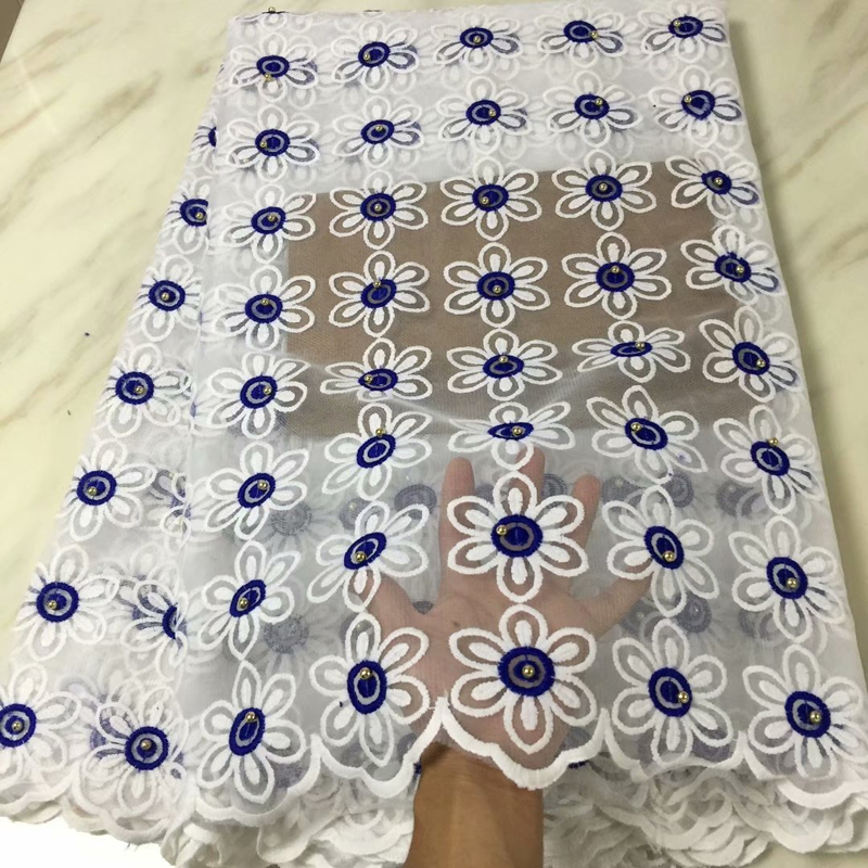 Latest French Tulle Mesh Lace Fabric 2019 High Quality Royal Blue African Nigerian Wedding Lace Fabric With Stones For Sew Dress