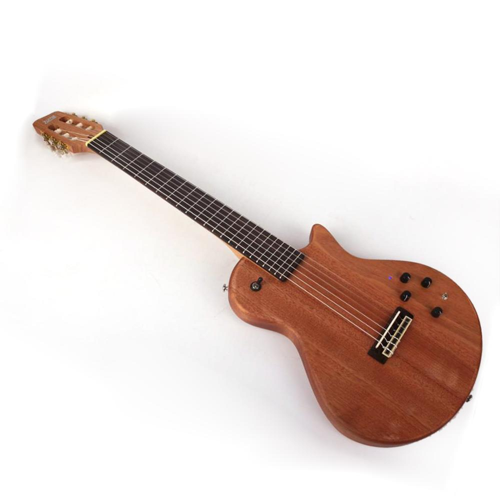 Silent nylon string travel  electric classical classic guitar portable built in effect  free shipping