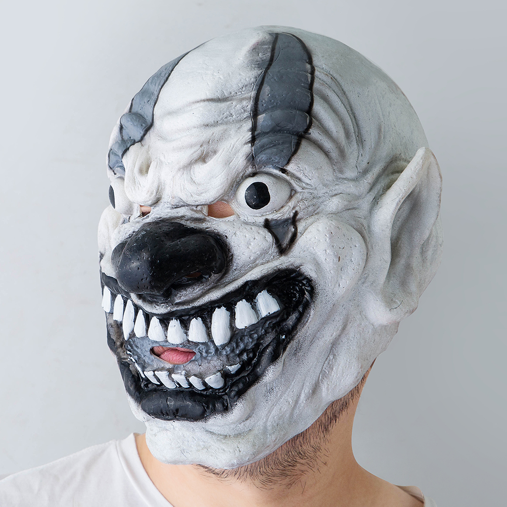 Halloween Mask Ghost Baby Grimace Big Mouth Tongue Disgusting Horror Dress Up Funny Props Silicone Latex in Party Masks from Home Garden