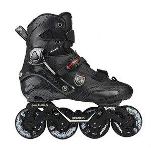 Image 1 - 100% Original 2019 SEBA Trix2 Erwachsene Inline Skates Roller Skating Schuhe Rockered Rahmen Slalom Schiebe FSK Patines Adulto