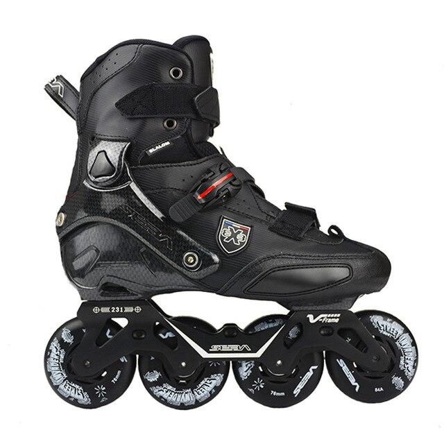 100% Original 2019 SEBA Trix2 ผู้ใหญ่รองเท้าสเก็ตอินไลน์สเก็ตRollerสเก็ตรองเท้าRockeredกรอบSlalomเลื่อนFSK Patines Adulto