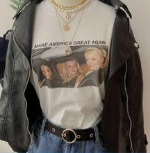 Sunfiz-Camiseta de moda HJN para mujer, Camiseta con estampado de gran América, moda Tumblr, moda urbana