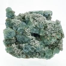 657g natural green fluorite calcite mineral specimen aquarium interior decoration crystal and stone healing