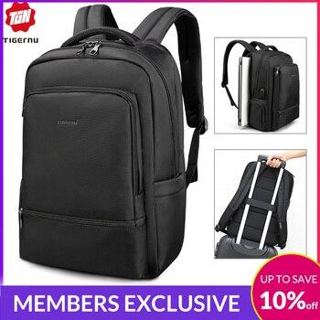 Water Repellent  Nylon Anti theft 22L  Men 15.6 inch Laptop Backpack USB Recharging Travel Male Mochila Solid Schoolbag For Boy