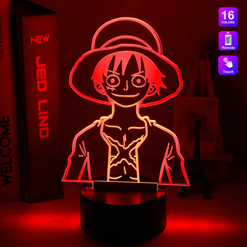 Cool Anime 3d Night Lamp One Piece Portgas D Ace Color Changing Led Light Bedroom Decoration Gift for Kids Adult