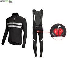 Wosawe унисекс зимняя теплая флисовая одежда для велоспорта