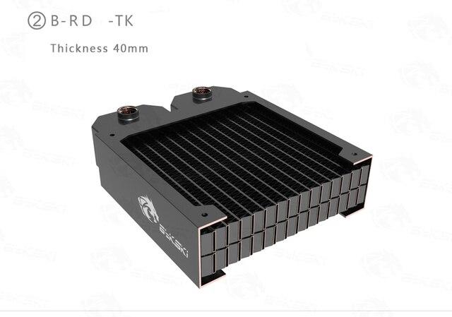 Bykski 38mm épaisseur 360mm 2 étages dissipateur de chaleur cuivre radiateur ordinateur eau liquide de refroidissement échangeur de chaleur utilisation pour 3*12cm ventilateurs