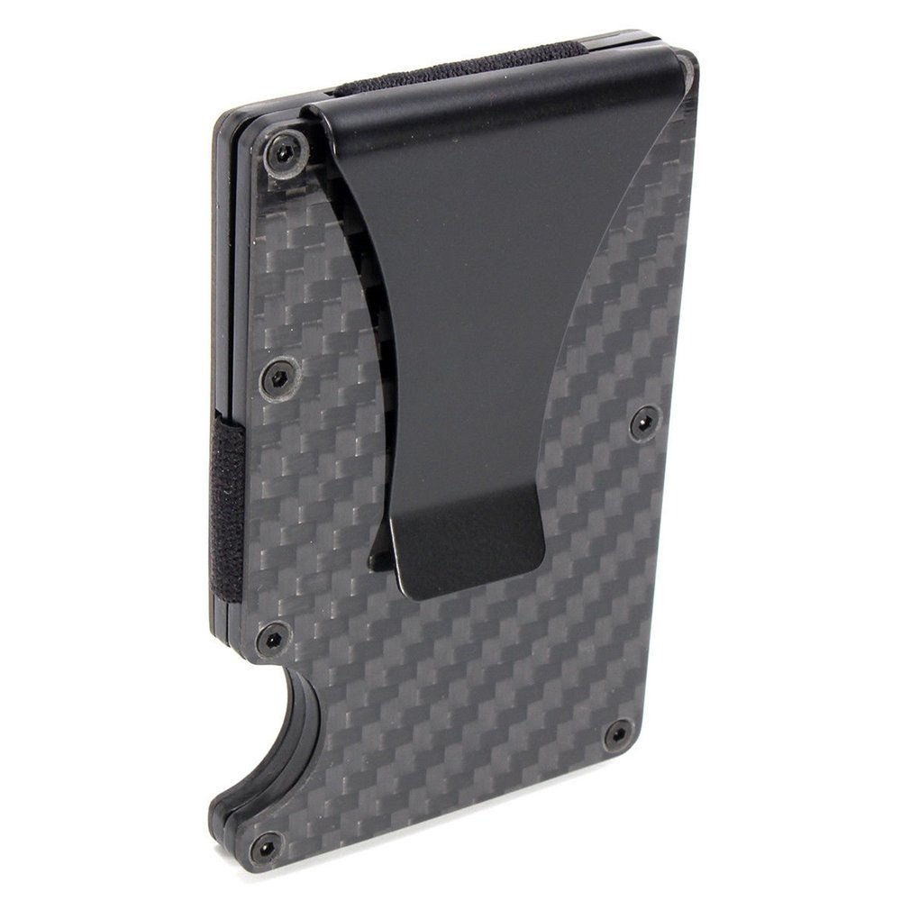 2019 New Men Card Holder Slim Carbon Fiber Credit Card Holder Metal Wallet  Anti Scan Function Hold Card Coins Cash Hot Selling