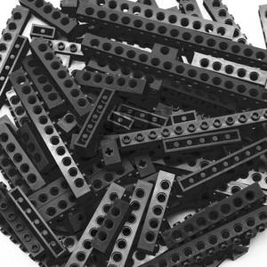 Image 4 - Moc Technic di Mattoni con Foro Lungo Travi FAI DA TE di Spessore Building Block Misto Bulk Compatibile Monta Il Blocchetto Delle Particelle di Scienza Meccanico