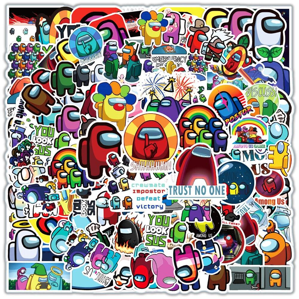 10/30/50/100 шт между нами Горячая игра в стиле «граффити» Стикеры s для ноутбука Тетрадь скейтборд компьютер Стикеры для багажа Стикеры