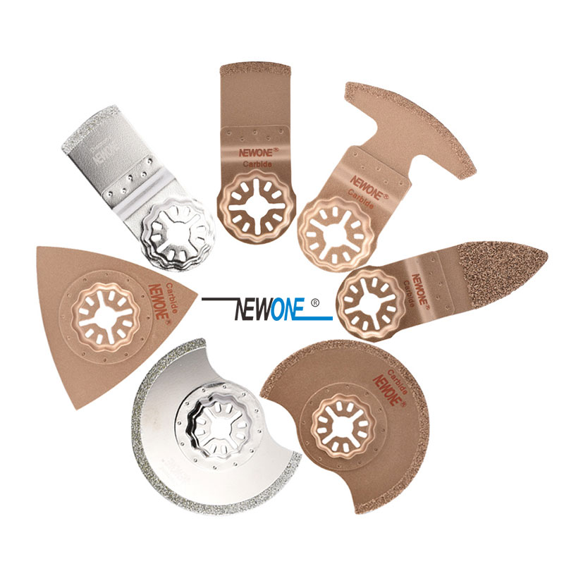 STARLOCK Type One-piece NEWONE E-cut Circular Carbide And Diamond Oscillating Multi Tool Saw Blades Triangle Rasp