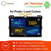 Ownice K3 K5 K6 Octa Core Android 9.0 Radio Car DVD GPS Navi for Toyota Prado 2004 2009 Land Cruiser 2003 360 Panorama DSP 4G