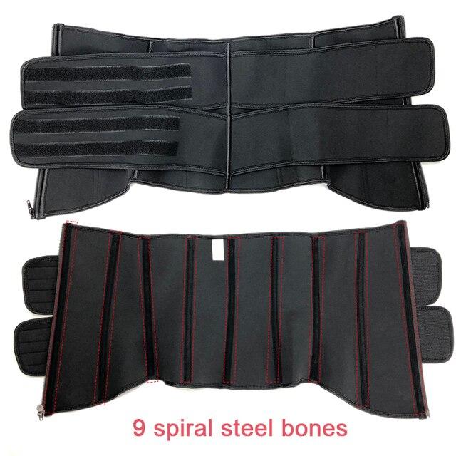 Men Upgraded Version Sweat Belt Waist Trainer Cincher Trimmer Neoprene Hourglass Slimming Body Shaper Band Workout Back Support 4