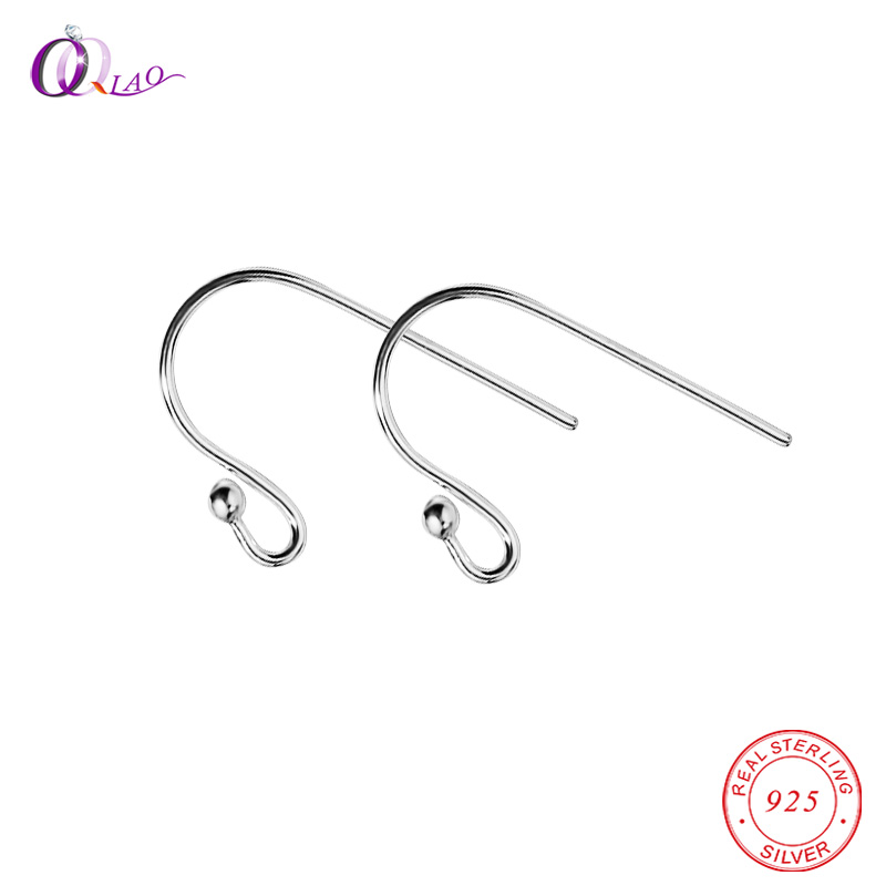 HX 100 Pairs Silver Plated Ear Wire Hooks Earring Findings