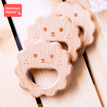 Mamihome 10pc Baby Wooden Teether Lion King Pacifier Chain Pendant Beech Rodent Holder Bpa Free Wodoen Blank Childen'S Goods Toy стоимость