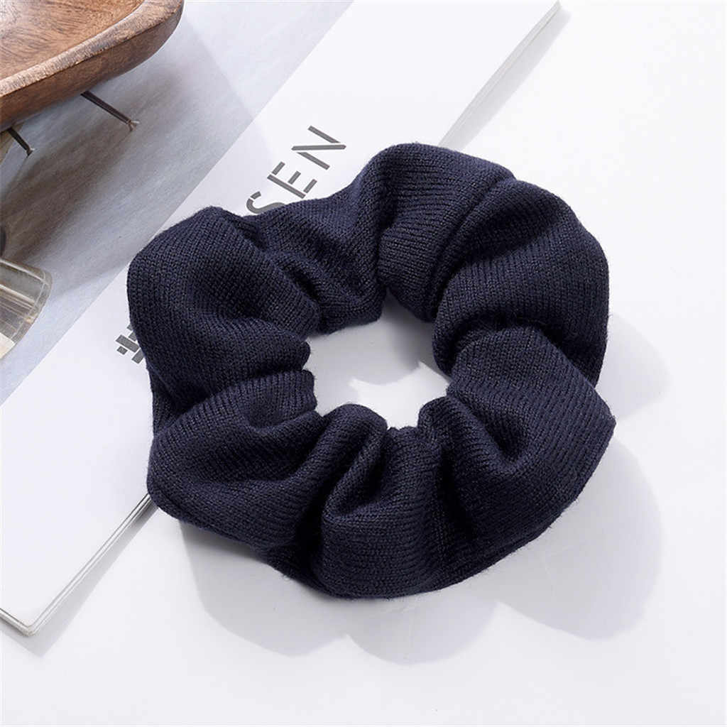 Solid color Ring Tie Headband  Scrunchie Ponytail Holder Hair Band Women Elastic hair clips for women  Rope tiara de cabelo