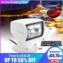 Lampe de projecteur 12V 100W 2500LM 3200K Marine projecteur ampoule PC + aluminium télécommande multi angle blanc