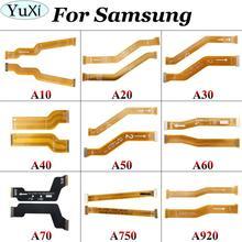 YuXi For Samsung Galaxy A10 A20 A30 A305F A40 A50 A60 A70 A750 A920 Motherboard Main Board Connector LCD Display USB flex Cable стоимость