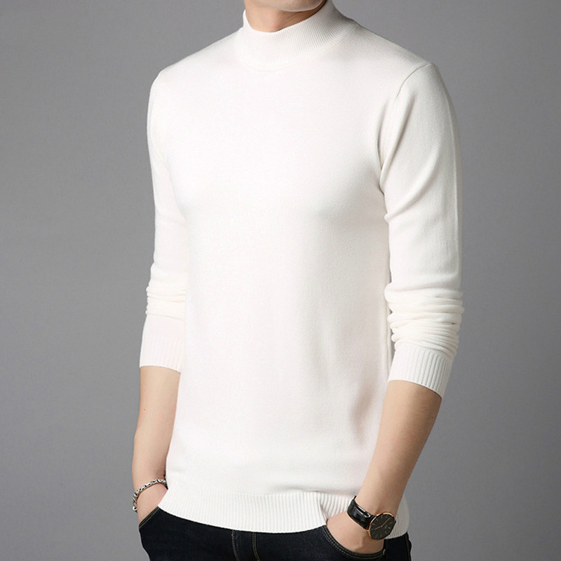 Men Cashmere Sweaters Full Sleeve Pull Homme Solid Color Pullover Sweater Men's Tops