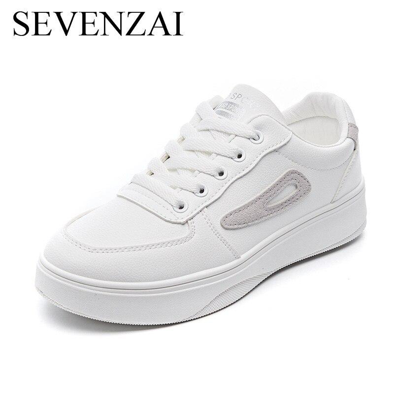 Chaussures vulcanisées à plateforme pour femmes, baskets décontractées, confortables, coréennes, blanches, printemps