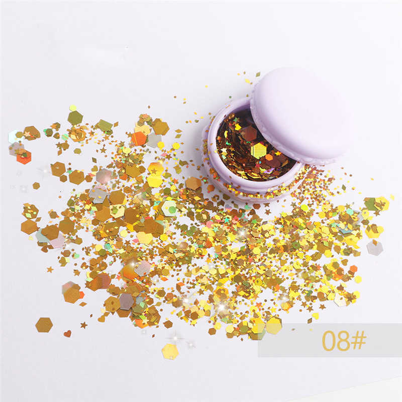 Party Make Up เครื่องสำอาง Glitters Body Carnival Decor เทศกาลใบหน้า Chunky GlitterMusic เทศกาลแต่งหน้าแต่งกาย