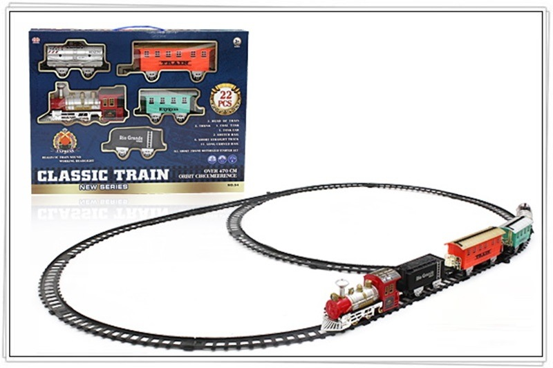 Model Vintage Steam Train Electric Sound-And-Light Rail Train Toy Children Boy Christmas Gift