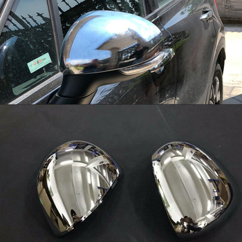 Car Auto Cover Styling For FIAT 500X 2014 2015 2016 2017 2018 2019 ABS Chrome Side Wing Fender Rearview Door Mirror Cap Trim