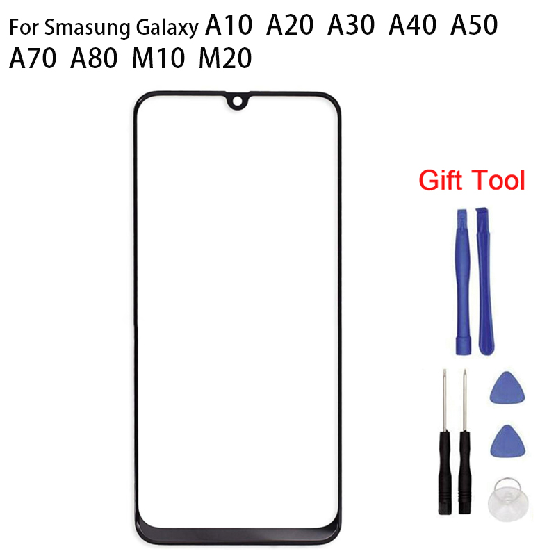 For Samsung A10 A20 A30 A50 A70 A80 A90 M10 M20 Touch Screen Glass Panel Digitizer Sensor Touchpad Front Glass Panel Spare Parts