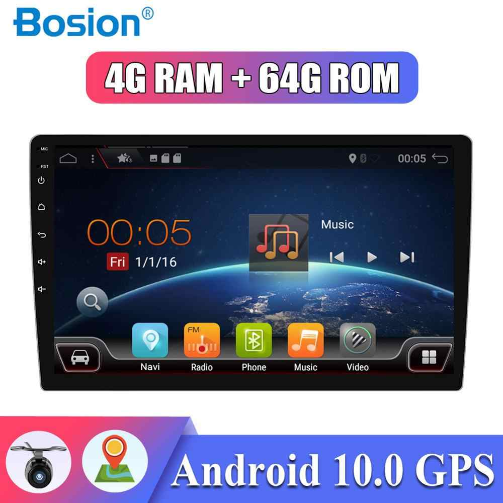 PX6 Mobil Radio Android 10.0 Single DIN 4G Ram + 64G ROM Mobil Multimedia Stereo Audio Gps Navigasi aux HDMI Wifi SWC OBD DAB 10 Inch