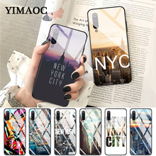 YIMAOC New York city landscape Glass Case for Xiaomi Redmi 4X 6A note 5 6 7 Pro Mi 8 9 Lite A1 A2 F1