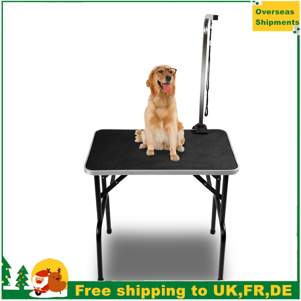 Double Professional Adjustable Portable Mobile Folding Dog Pet Grooming Table Pet Beauty Table Grooming Desk With Hanging Rope
