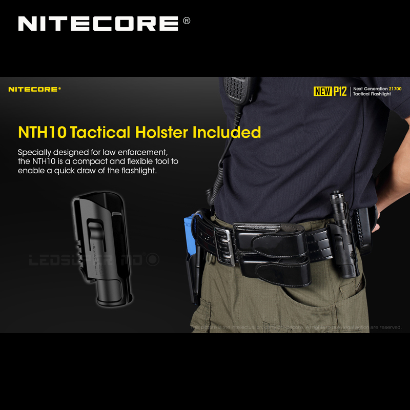 1200 Lumens Nitecore NEW P12 Next Generation 21700 Tactical Flashlight with NTH10 Holster - 4