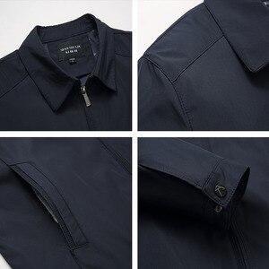 Image 5 - 봄 가을 망 패션 대표팀 재킷 품질 단색 검정 남성 윈드 브레이커 고품질 브랜드 남성 의류 크기 M 3XL