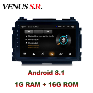 Автомобильный dvd-плеер VenusSR, Android 8,1, 2.5D, для Honda VEZEL, HRV, XRV, мультимедиа, головное устройство, GPS, радио, стерео, gps навигация