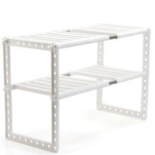 ホルダーキッチンステンレス鋼床タイプアジャスタブル拡張可能二重層食器収納ラックシンク多機能棚